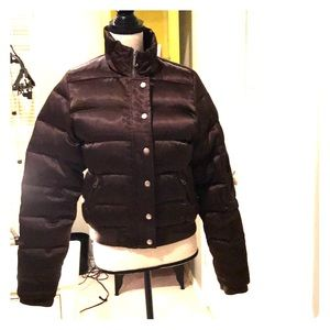 Juicy couture black short puffer down jacket